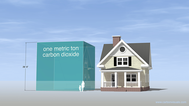 One Metric Ton CO2 Beside The House